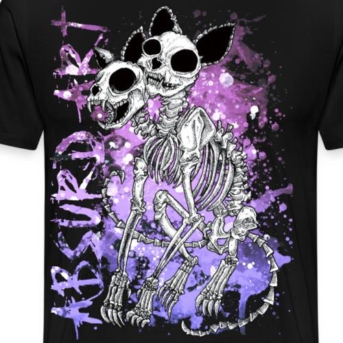 Knochentierchen Katze von Absurd ART - Männer Premium T-Shirt