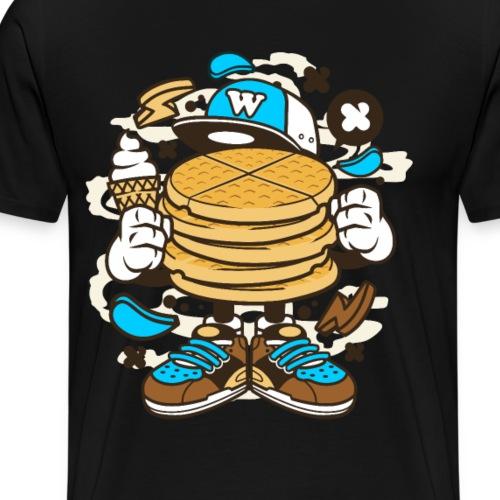 Waffle Graffiti Cartoons Geschenk - Männer Premium T-Shirt