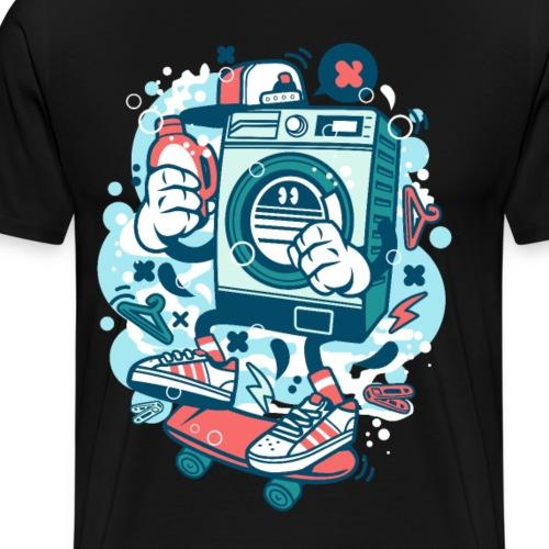 Waschmaschine Skater Graffiti Geschenk - Männer Premium T-Shirt