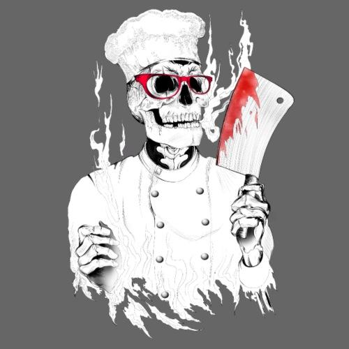 Killer Koch mit roter Brille killer chef - Männer Premium T-Shirt