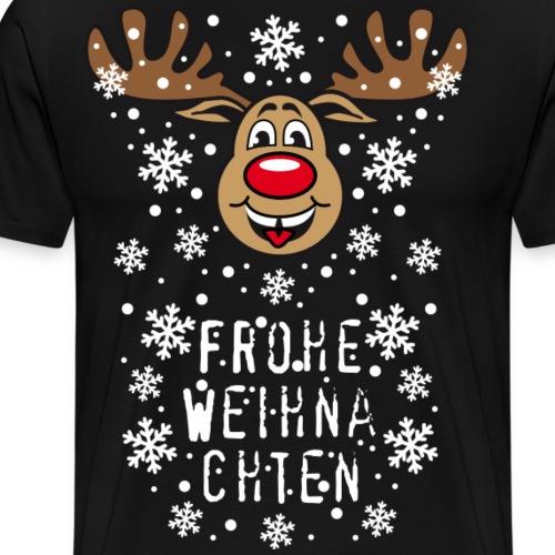 54 Hirsch Rudolph Frohe Weihnachten süß - Männer Premium T-Shirt