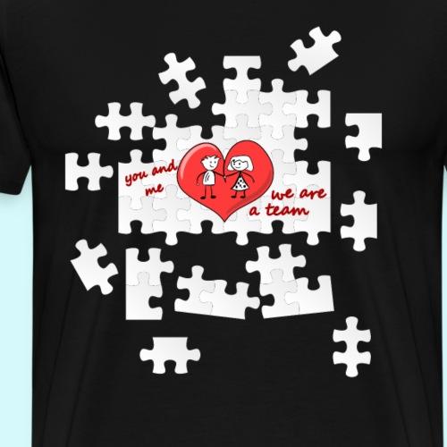 Love / Beziehung - Du & Ich, Team Partner Puzzle - Männer Premium T-Shirt