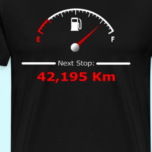 Laufen / Run 42 km - Next Stop - Laufmotivation - Männer Premium T-Shirt