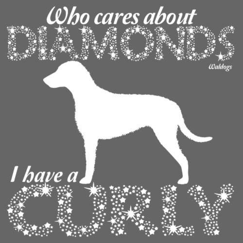 Curly Diamonds - Miesten premium t-paita