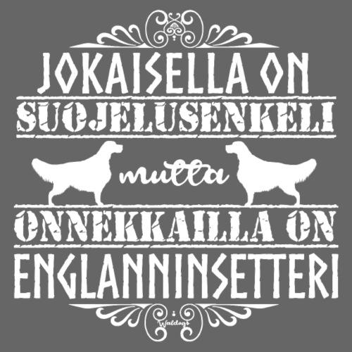 Englanninsetteri Enkeli - Miesten premium t-paita