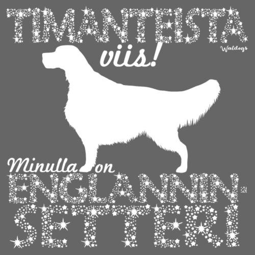 Englanninsetteri Timantti - Miesten premium t-paita