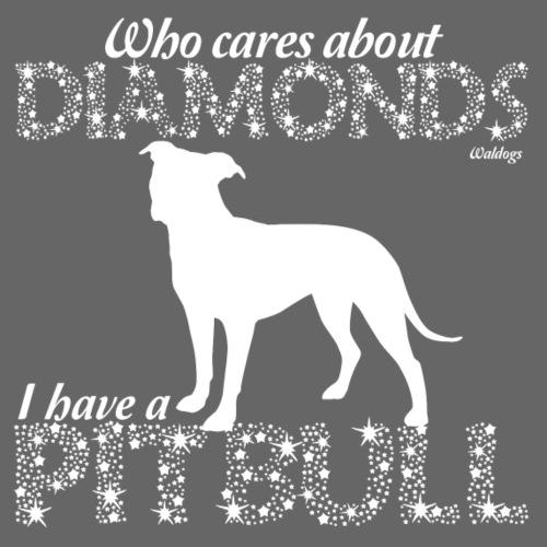 Pit Bull Diamonds - Miesten premium t-paita