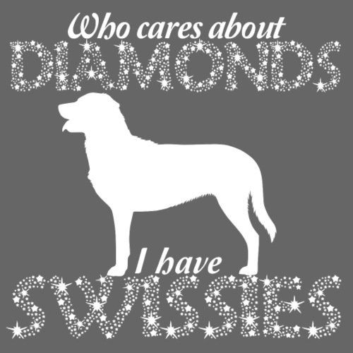 Swissies Diamonds - Miesten premium t-paita