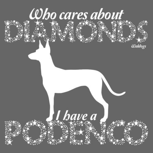 Podenco Diamonds - Miesten premium t-paita