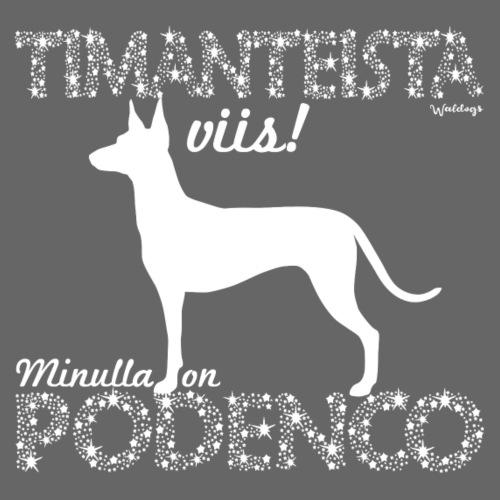 Podenco Timantti II - Miesten premium t-paita