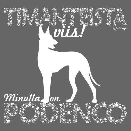 Podenco Timantti - Miesten premium t-paita