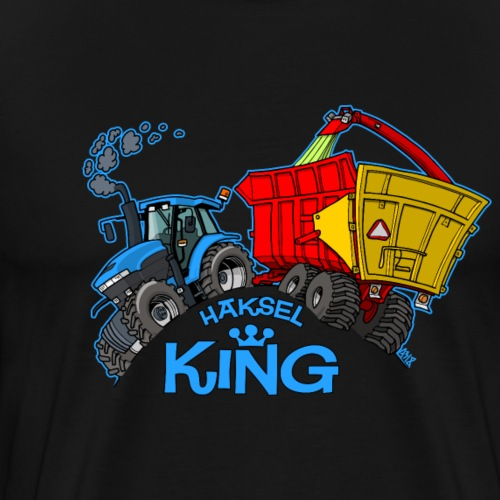 NewHolland8670 Haksel KING black - Mannen Premium T-shirt