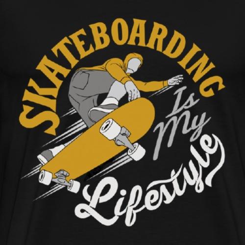 Skateboarding is my Lifestyle - Männer Premium T-Shirt