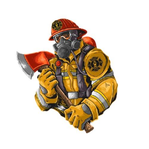 Feuerwehrmann mit Axt - Männer Premium T-Shirt