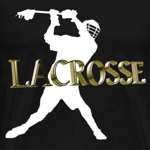 Lacrosse 3D Design! - Männer Premium T-Shirt