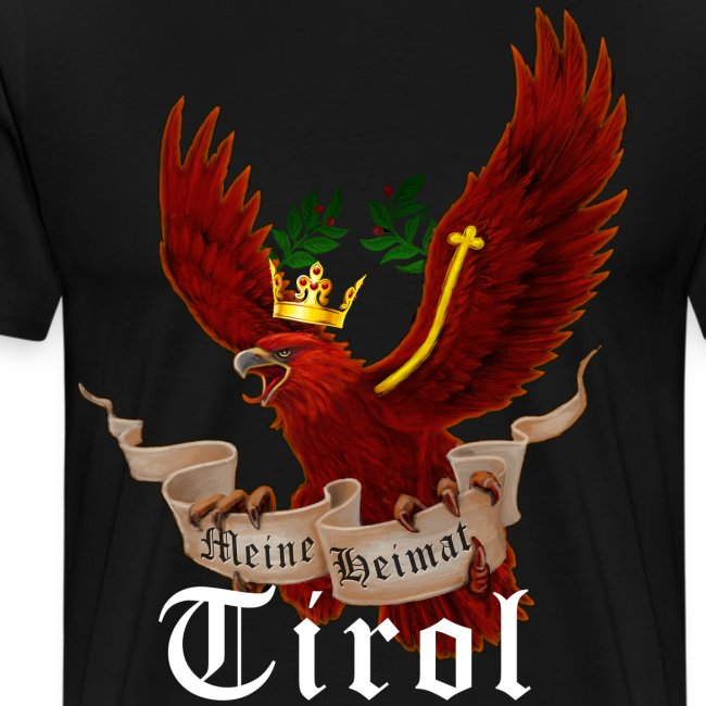 Tiroler Adler Mit Banner Meine Heimat Tirol Manner Premium T Shirt Sandy Sign