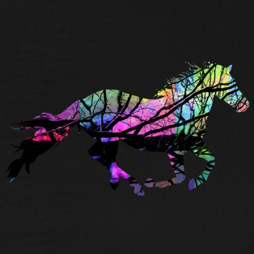 Pferd mit Farbe