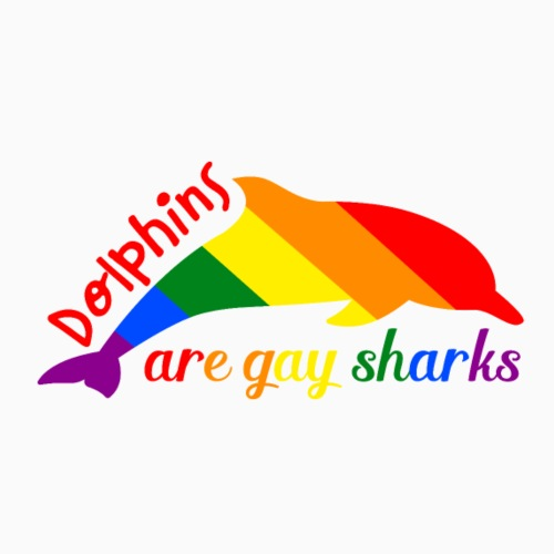 Dolphins are gay sharks! - Men's Premium T-Shirt