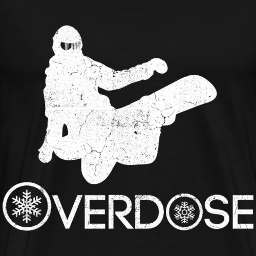 Snowboard süchtig - Überdosis - Männer Premium T-Shirt