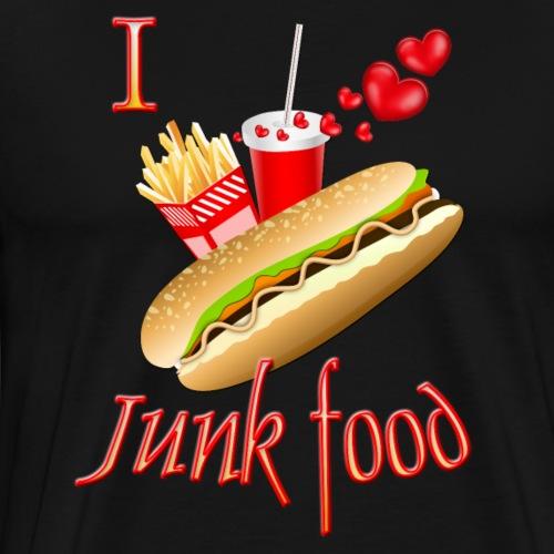 I love Junk food - Men's Premium T-Shirt