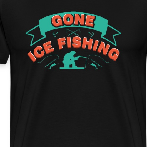Fishing in Winter Ice - Men's Premium T-Shirt