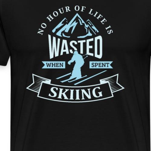 Winter Skiing Pun Backcountry Hour - Men's Premium T-Shirt