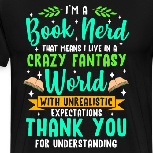 Books Nerd - Männer Premium T-Shirt