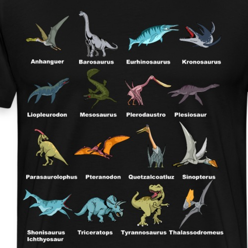 Dino ABC - Männer Premium T-Shirt