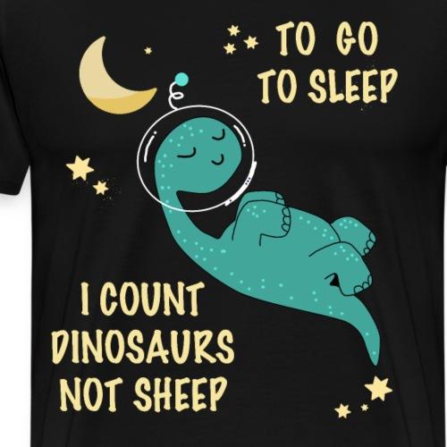 Dino sleep - Männer Premium T-Shirt