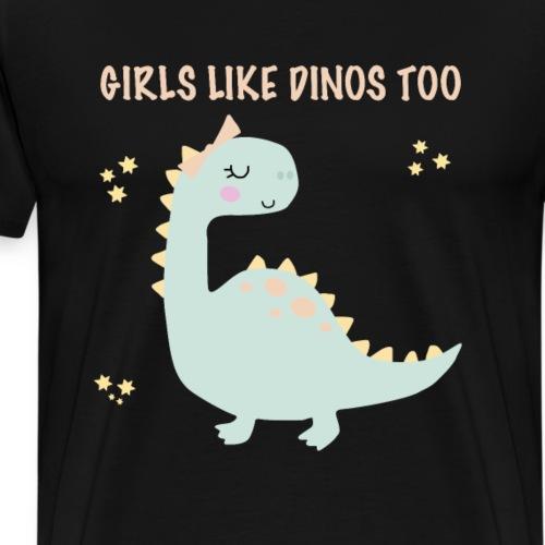 Dino Girls - Männer Premium T-Shirt