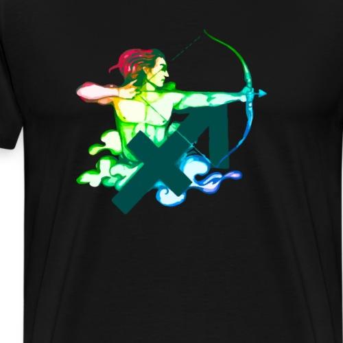 Tierkreiszeichen Schütze, Horoskop buntes Design - Männer Premium T-Shirt