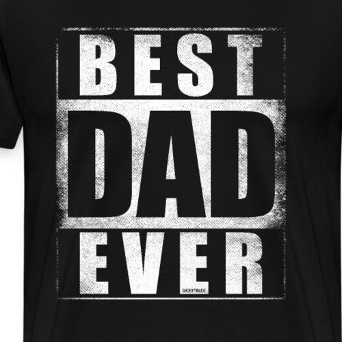 Best Dad Ever Vater grunge weiß - Männer Premium T-Shirt