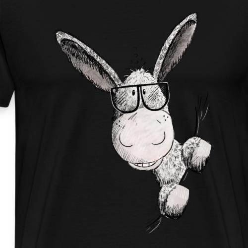 Esel mit Sonnenbrille I Tiermotiv Eselchen - Männer Premium T-Shirt
