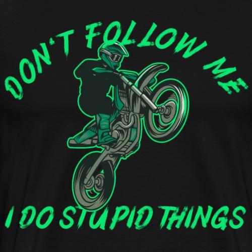 Motocross Dirtbike Motorrad Enduro Shirt Geschenk - Männer Premium T-Shirt