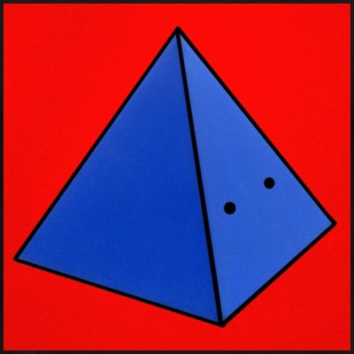 Fond rouge piramide