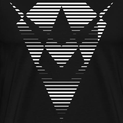 Blanc losange - T-shirt Premium Homme
