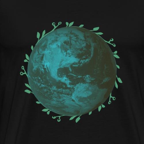 Unsere Erde Mit Blätterkranz - Männer Premium T-Shirt