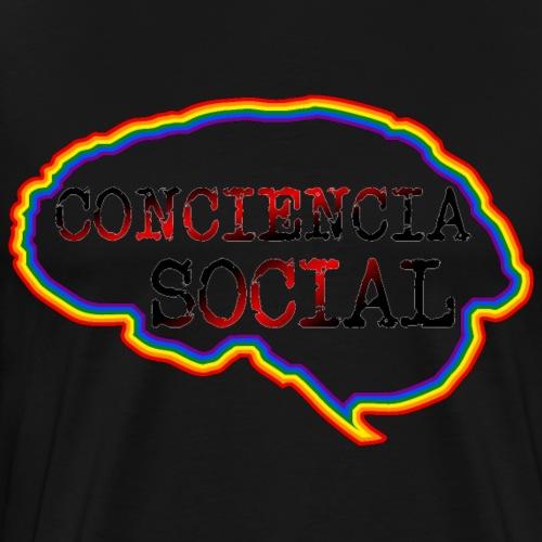 Cerebro Conciencia Social - Camiseta premium hombre