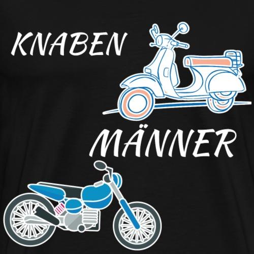 motorrad biker mopet roller männer knaben - Männer Premium T-Shirt