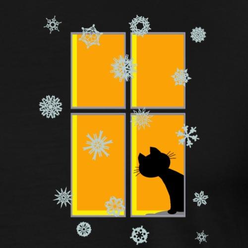 Katze im Fenster - Männer Premium T-Shirt