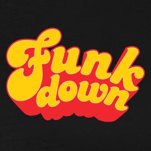 Funkdown Official Merchandise (dobbelt logo) - Herre premium T-shirt