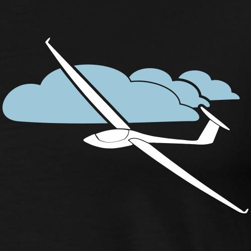 Wolkenstraße Segelflugzeug Sonne Segelflieger - Männer Premium T-Shirt