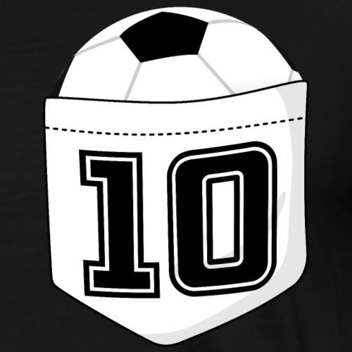 Fußballspieler T-Shirt Fußball in der Brusttasche - Männer Premium T-Shirt