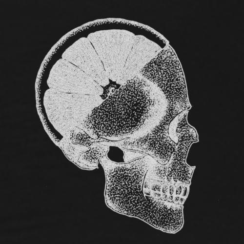 The Skull - Logo [WHITE] - Men's Premium T-Shirt
