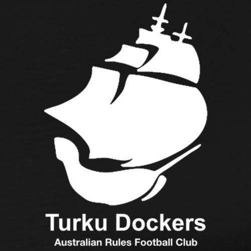 Turku Dockers VALKOINEN - Miesten premium t-paita