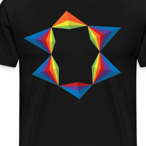 rainbow-geometric-1 - T-shirt Premium Homme