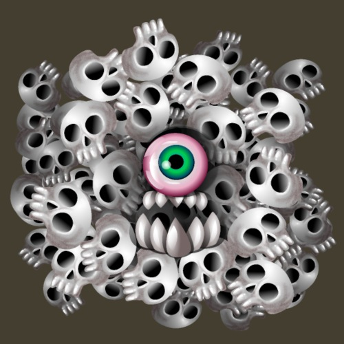 Monstruo del cráneo - Camiseta premium hombre