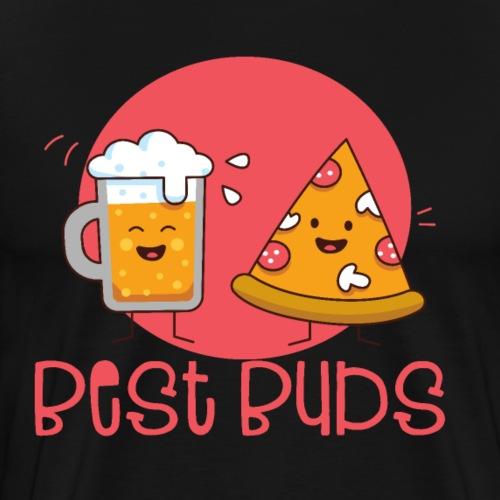 Best Buds Freundschaft Zusammen wie Bier und Pizza