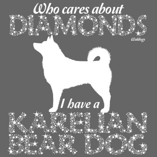 Karelian Bear Dog Diamonds - Miesten premium t-paita