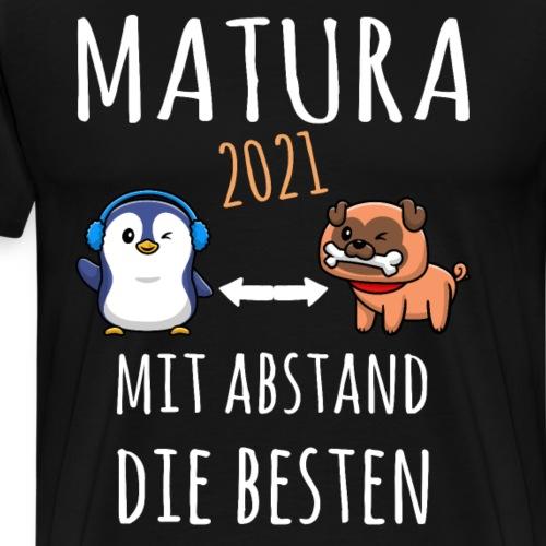 MBA Matura 2021 Hund Pinguin Shirt Geschenk - Männer Premium T-Shirt